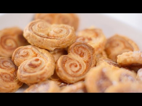 How to make and shape palmier biscuits - BBC Good Food
