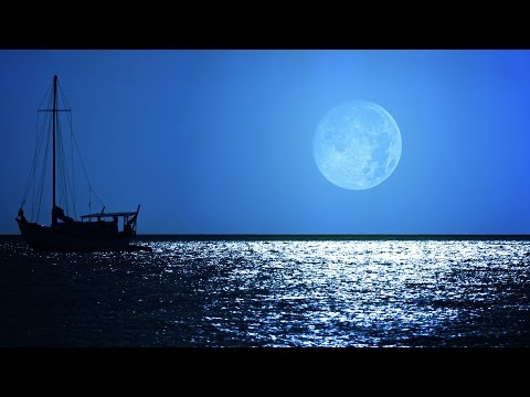 Sleep Music: Soothing Dream Sound - Relaxing Ocean Night and Full Moon Scene