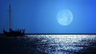 Sleep Music: Soothing Dream Sound - Relaxing Ocean Night and Full Moon Scene
