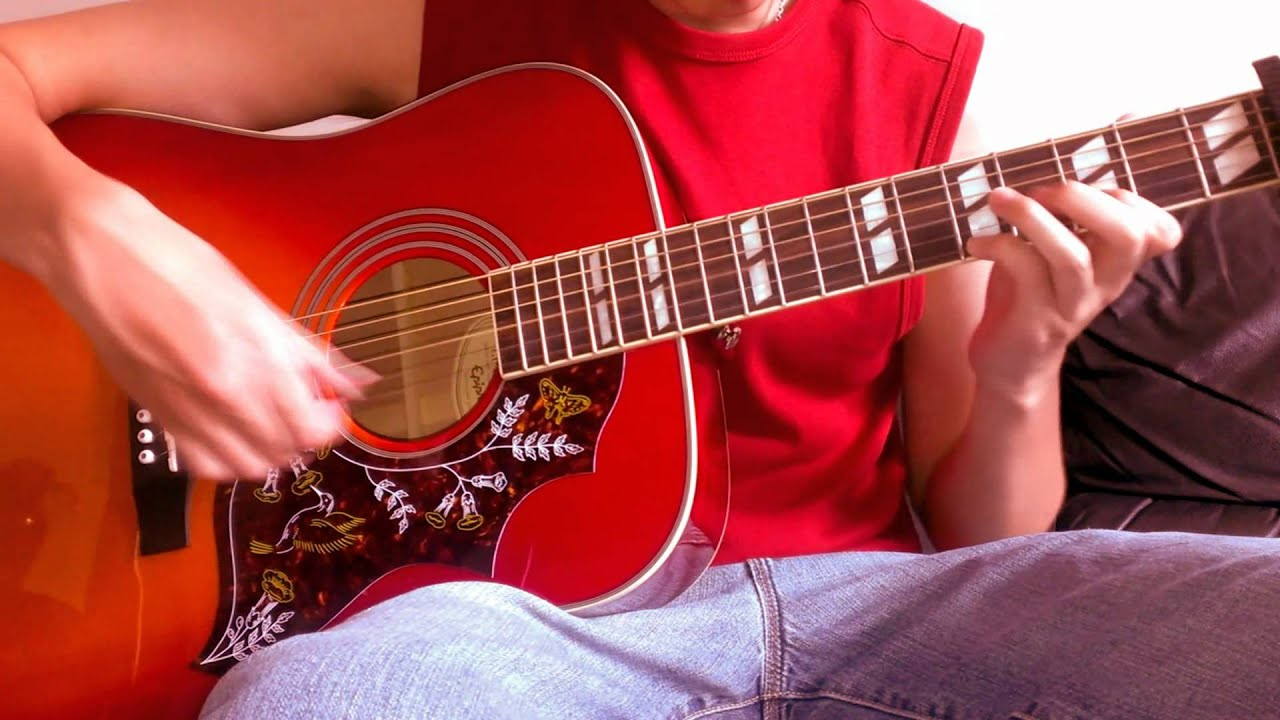Cascada Everytime We Touch Acoustic Guitar Cover Youtube
