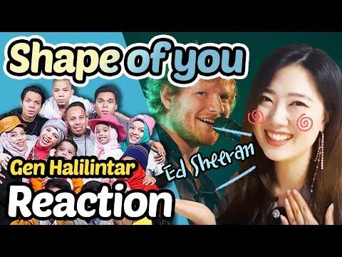 Reaction To Gen Halilintar - Shape Of You(Ed Sheeran)
