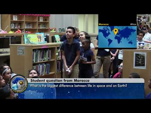 Space Station Crew Discusses Life in Space with the Peace Corps