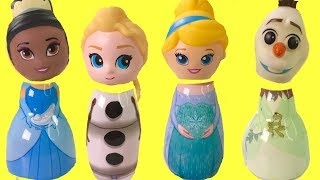 Disney Princesses Olaf Have WRONG HEADS Frozen Elsa Tiana Cinderella Surprise Toys | Fizzy Toy Show