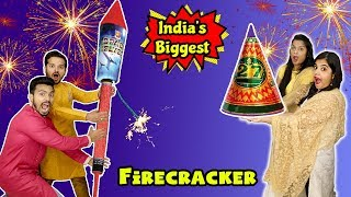 Diwali Special Fire Cracker Challenge | Biggest Fire Crackers Competition Hungry Birds