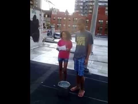 Elan does the ALS Ice Bucket Challenge part 1