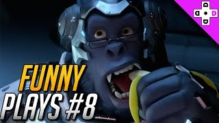 funny overwatch plays 8 tracer has a bad day