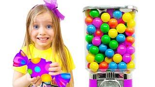 Милли хочет играть со сладостями и шутит с папой