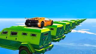 Hardest Car Parkour Skill Test! (GTA 5 Funny Moments)