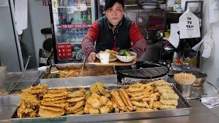 튀김 옷이 남다른 튀김 맛집 / korean fried food master / korean street food