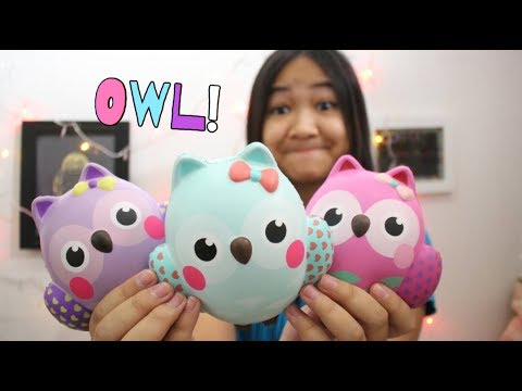 3 BOO OWL?!? || COLORFUL SQUISHY PACKAGE FROM SSI & JEAN SQUISHY!