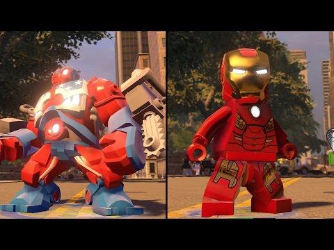 LEGO Marvel's Avengers - Detroit Steel vs Iron Man - CoOp Fight   Free Roam Gameplay (PC HD) [1080p]