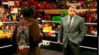 triple h and r truth funny moment