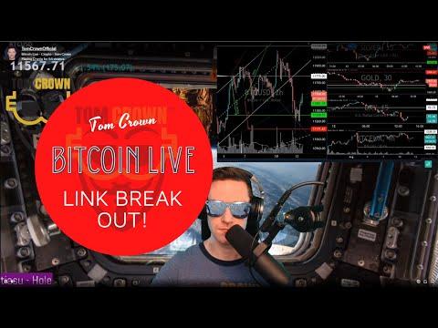 BITCOIN LIVE 🔴 Episode #2: LINK BREAK OUT! Tesla Split ...