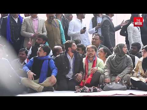 Sights from Jignesh Mevani's Yuva Hunkar rally in Delhi