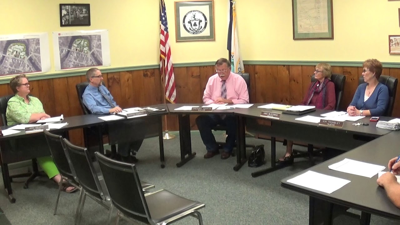 Champlain Village Board Meeting  10-11-18