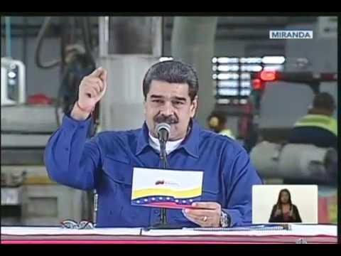 Maduro encabeza jornada de producción desde la Planta de Cartones de Venezuela
