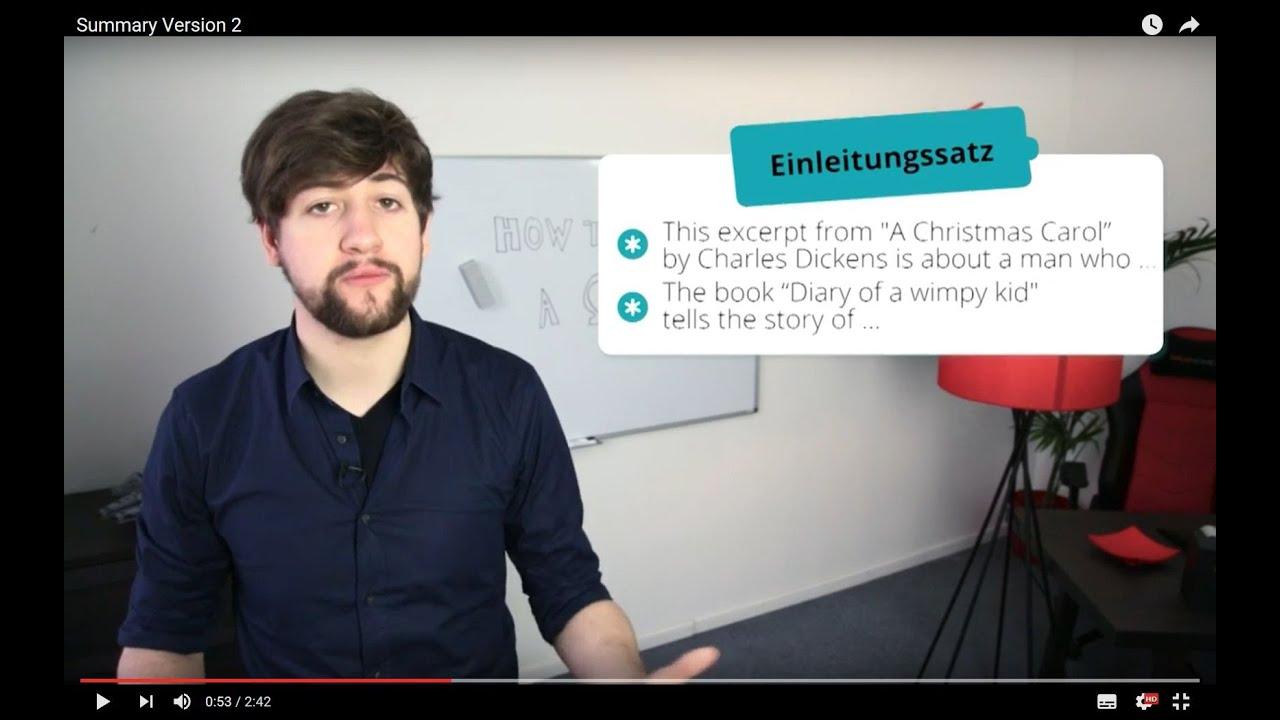 Summary Eine Zusammenfassung Schreiben Youtube
