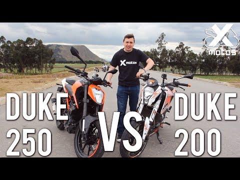 DUKE 250 VS DUKE 200 - X MOTOS - DRAG RACE