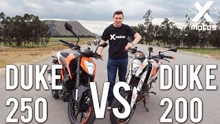 DUKE 250 VS DUKE 200 - X MOTOS - DRAG RACE