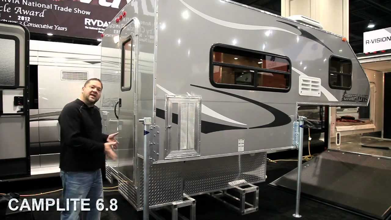 2013 Camplite All Aluminum Truck Campers - YouTube