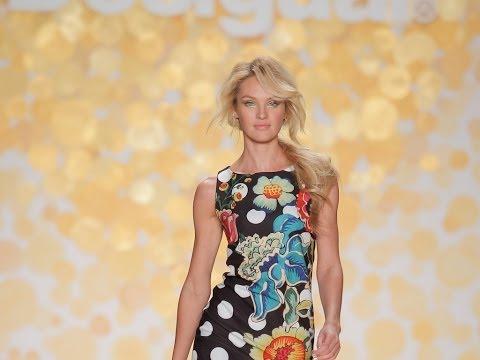 New York Fashion Week Catwalk AW'14 with Candice Swanepoel by Desigual