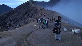 At the Top of Mount Ijen, Banyuwangi, East Java, Indonesia