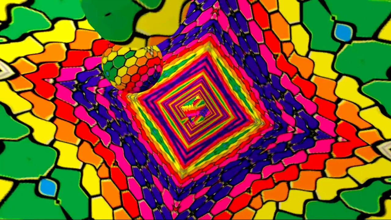 psychedelic video mix - hd vj trippy visual - 3d visuals - youtube