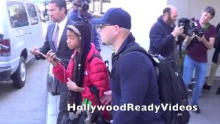 Willow Smith arrives back from NYC at LAX airport in LA