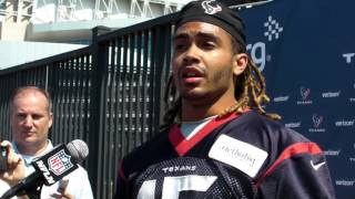 Will Fuller Talks with Media at Texans Rookie Camp