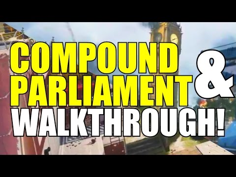 "Advanced Warfare: ""Compound"" and ""Parliament"" Map Walkthroughs! (Supremacy DLC)"