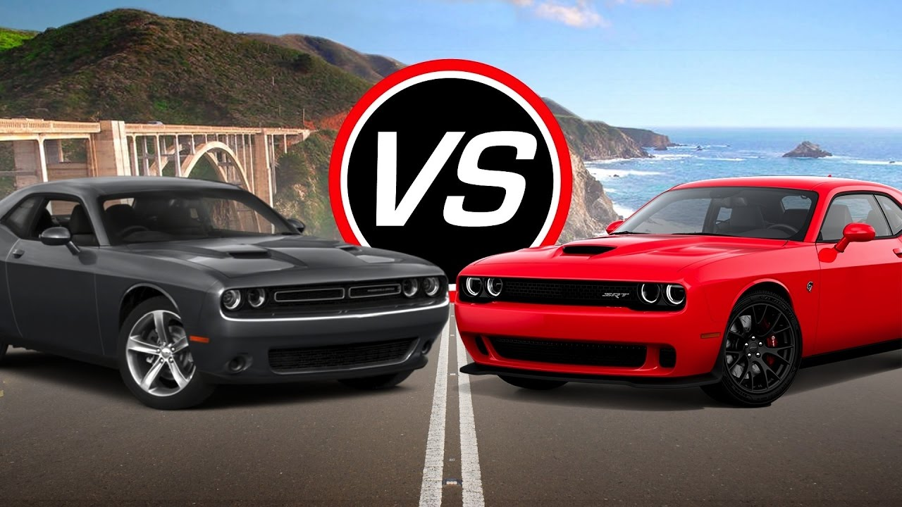 2016 Dodge Challenger R T Vs Srt Hellcat Spec Comparison