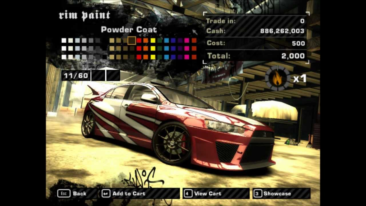 Need For Speed Most Wanted tuning Mitsubishi Evo X [HD]