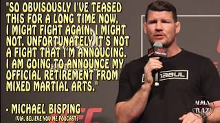 UFC Fighters react to Michael Bisping announcing his retirement from MMA