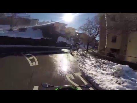 Beautiful day in Lugano - Riding in snow
