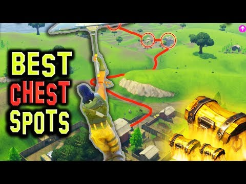 NEW BEST Chest/Loot Spots (8+ CHESTS) Fortnite Battle Royale! Spawn Locations