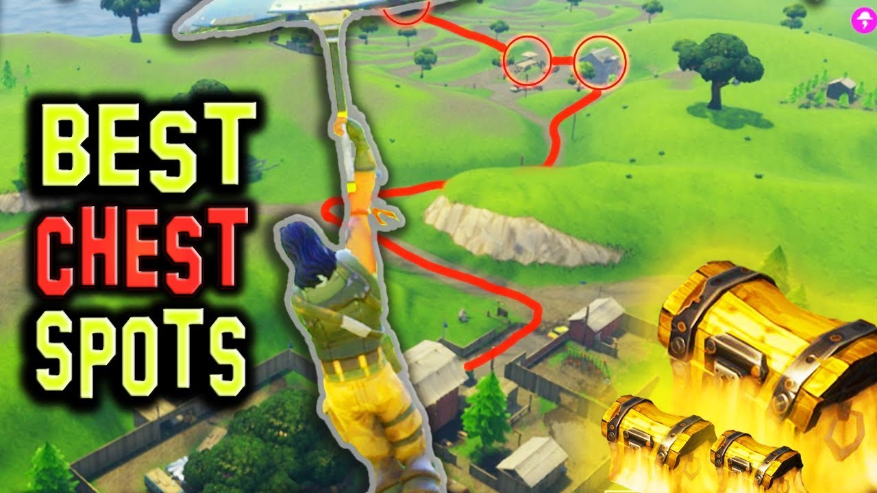 Top Places To Find The Best Loot: NEW BEST Chest/Loot Spots (8+ CHESTS) Fortnite Battle