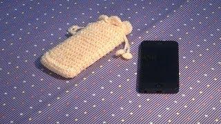 Hướng dẫn móc len:  móc túi đựng điện thoại Iphone (Subtitles English)
