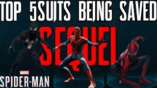 Top 5 Most WANTED SPIDER-MAN SUITS FOR SPIDER-MAN PS4 SEQUEL