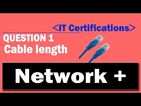 Network +  - Question 1  - 1000BASE‑T Cable Length
