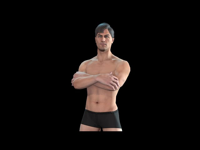 Base Mesh EvroMan 2 Censore and nude version preview