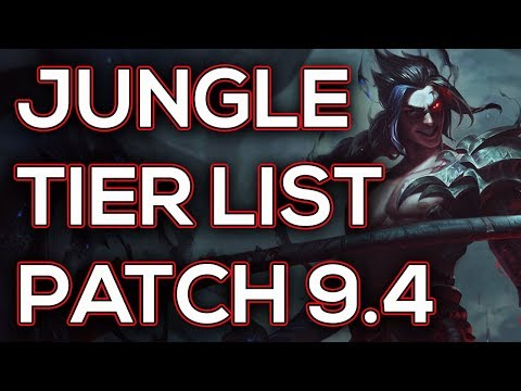 Jungle Tier List Patch 9.4 | Best Junglers For Solo Queue Season 9 Patch 9.4