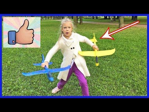 САМОЛЕТ из пенопласта ИГРАЮ в пенопластовый планер ОБЗОР метательной хит-игрушки для детей ПРОЧНЫЙ?