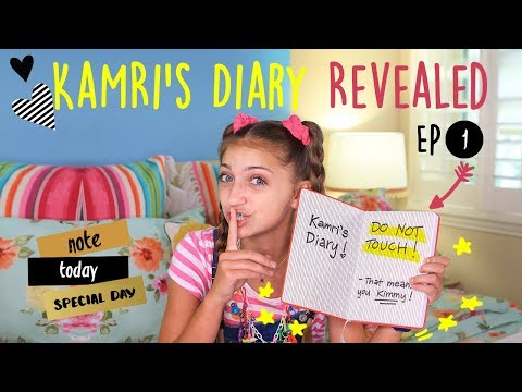 Kimmy Reads Kamris Diary  Kamri Noel