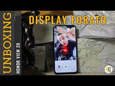 Unboxing HONOR VIEW 20 CON DISPLAY FORATO e non solo!!!