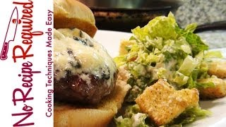 Blue Cheese Burger - Noreciperequired.com