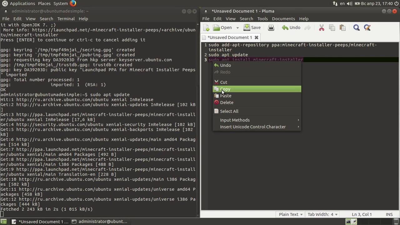 How to install Minecraft on Ubuntu MATE 16 04