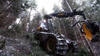Экстремальная техника. Как финские парни косят лес.