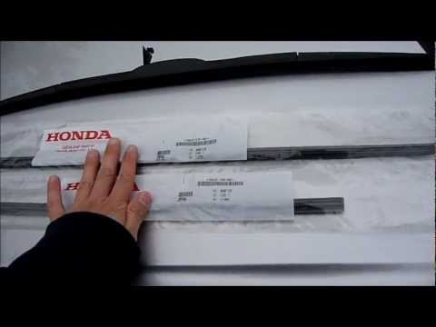 How to replace Honda Accord EX-L V6 Windshield Wiper Blade Rubber Inserts (HD)