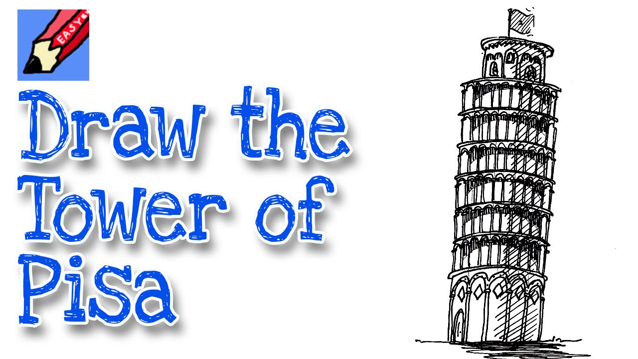 how to draw the leaning tower of pisa youtube
