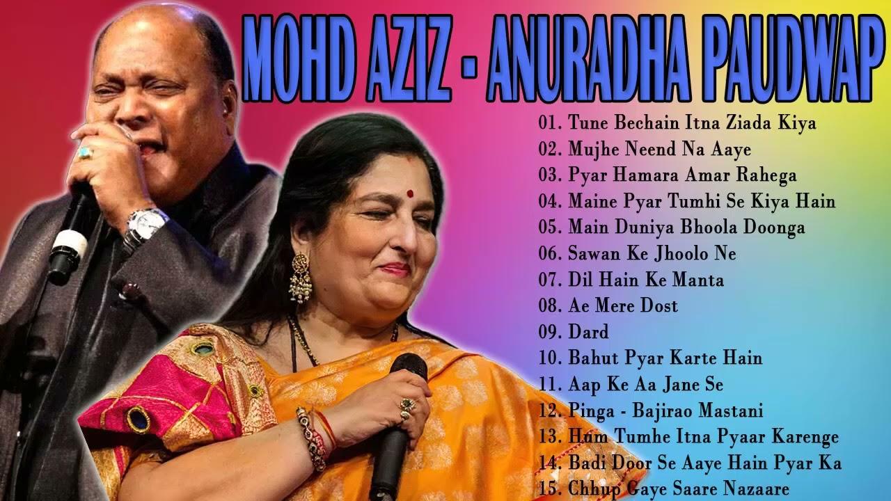 Download Best of Mohd Aziz - Anuradha Paudwap Romantic Hindi Love Song - Hindi Songs Collection Hits